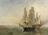 The Action and Capture of the Spanish Xebeque Frigate 'El Gamo', by Clarkson Stanfield