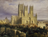 Lincoln Cathedral, by Frederick Mackenzie