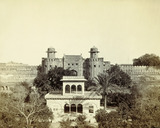 Hazuri Bagh Gardens and Fort Lahore, photo Samuel Bourne