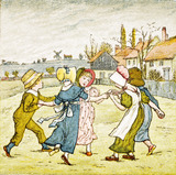 Children playing, by Kate Greenaway
