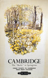 'Cambridge - The 'Backs' in Springtime', BR (ER) poster, 1950.