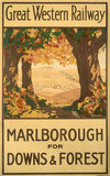 'Marlborough for Downs & Forest', GWR poster, 1927.