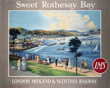 'Sweet Rothesay Bay', LMS poster, 1923-1947.