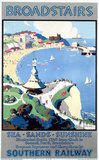 'Broadstairs; Sea, Sands, Sunshine', SR poster, 1929.