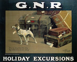 'Holiday Excursions - Every Dog Has His Day', GNR poster, 1913.