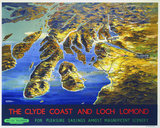 'The Clyde Coast and Loch Lomond', BR poster, 1955.