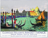 'Glorious Holidays Abroad - Venice', SR poster, 1928.