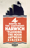 'Four Routes to the Continent', LNER poster, 1923-1947.