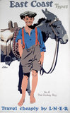 'East Coast Types, No 6 - The Donkey Boy', LNER poster, 1923-1947.