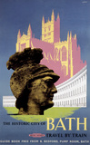 'The Historic City of Bath', BR (WR) poster, 1958.