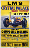 'Crystal Palace Road Circuit', LMS poster, 1938.