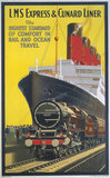 'LMS Expres and Cunard Liner', LMS poster, 1923-1947.