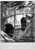 'Cambridge - St John's Bridge', LNER poster, 1923-1947.