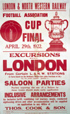 'Football Asociation Cup Final', LNWR notice, 1922.