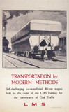 'Transportation by Modern Methods', LMS poster, c 1930s.
