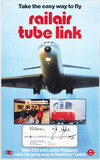 Railair Tube Link, BR Inter-City/London Transport poster, 1977.