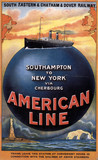 'American Line', SECR/LCDR poster, 1913.