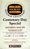 'Settle-Carlisle Railway Centenary Day Special', BR poster, 1976.