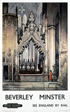 'The Percy Tomb, Beverley Minster', BR poster, c 1960.