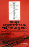 'Delays to your Trains', poster, 1979
