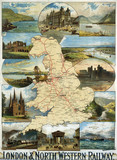 England and Wales, LNWR poster, early 20th century.