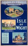 Isle of Wight, Southern Railway poster, 192