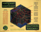 'The Gateway to the Continent', SR poster, 1928.