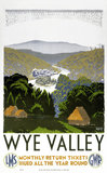 'Wye Valley', GWR/LMS poster, 1938.