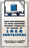'LNER Containers', LNER poster, c 1930s.
