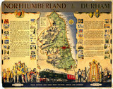 'Northumberland and Durham', BR poster, c 1950.
