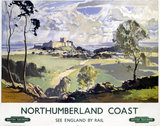 'Northumberland Coast', BR (NER) poster, 1948-1965.
