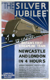 'The Silver Jubilee, Britain's First Streamline Train', LNER poster, 1935.
