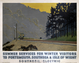 'Summer Services for Winter Visitors', SR poster, 1937.