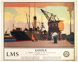 "'Goole - s ""Don"" Coaling at the 40-ton Crane', LMS poster 1923-1947."
