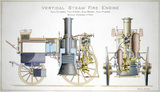 Shand Mason vertical steam fire engine, 1863.