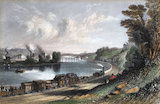 'The River Wall at Wylam Scars', Northumberland, 1836.