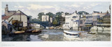 The River Ouse, York, BR(NER) carriage print, 1948-1965.