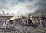 'Iron Duke' locomotive at Chippenham Station, Wiltshire, c 1850.