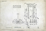 Arkwright's patent drawing for a spinning machine, 1769.