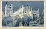 Exeter Cathedral. SR carriage print by Dona