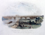 'Guildford Viaduct, South Eastern Railway' Surrey, c 1845.