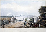 View of the intersection bridge, St Helens & Runcorn Gap Railway, 1832.