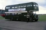 Green double decker bus, 1962-1967.