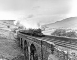 Steam locomotive 'Neil Gow', Ais Gill Viaduct, Settle and Carlisle line, 1960.