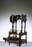 Arkwright's prototype spinning machine, 1769.