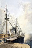 Port-side view of the 'Great Eastern', 1866.