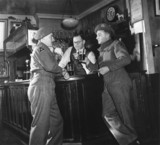 Soldiers in a pub, Second World War, c 1939-1945.