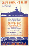 'Great Britain's fleet in the Thames', SR poster, 1937.