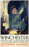Winchester, Southern Railway poster, 1935.