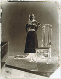 Xie Kitchin with violin, 1875-1880.